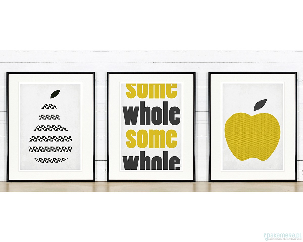 plakat do kuchni minimalizm gruszka a3 dodatki