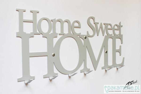 Wieszak na ubrania home sweet home szary dodatki plakaty ilustracje obrazy inne Home ubrania