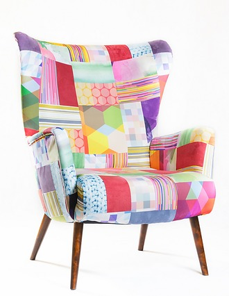Piękny fotel Patchwork Handmade