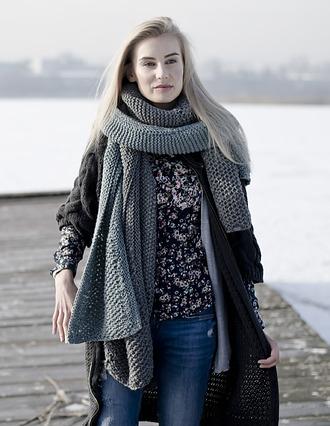 Szalik - Grey-green Nordic