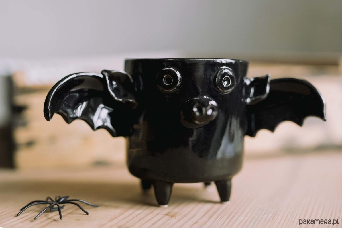 dekorację na Halloween kubek lub doniczka nietoperz