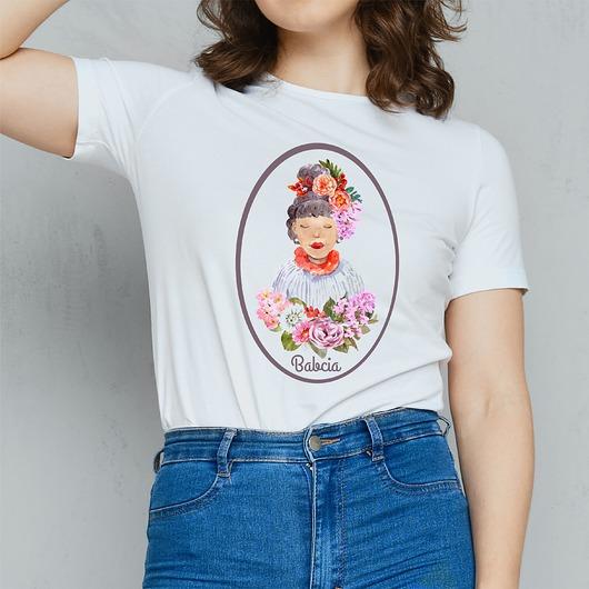 Koszulka damska z nadrukiem Babcia