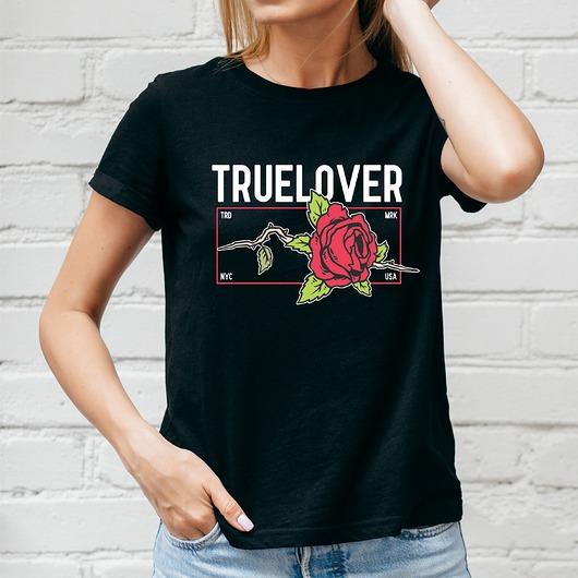 Koszulka damska czarna True love