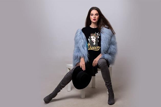 Koszulka damska czarna Queen