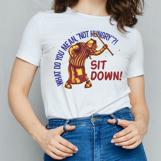 Koszulka damska z nadrukiem Not hungry