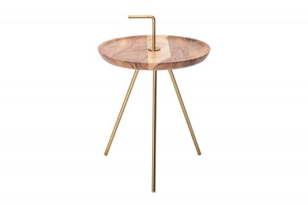 Stolik dekoracyjny Clever drewno akacjowe 36cm