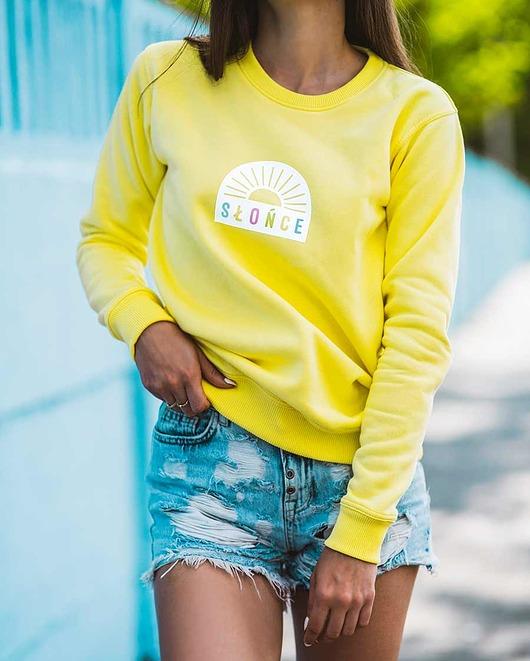 Żółta bluza damska słońce
