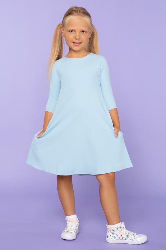 Sukienka trapezowa, model 24, jasnoniebieski
