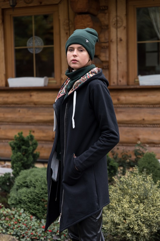 Bluza damska every day CZARNA+WZÓR