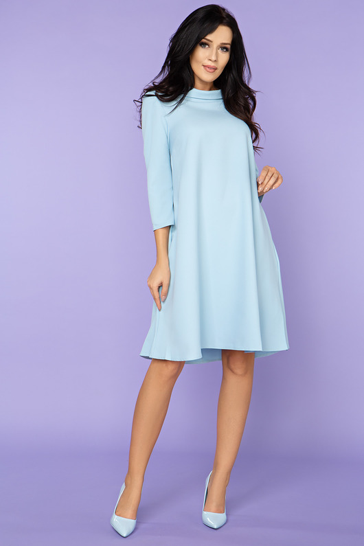Sukienka trapezowa, model 24, j.niebieski