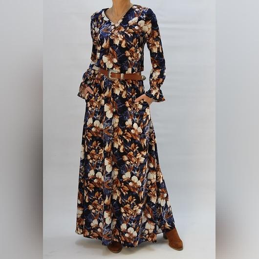 Sukienka maxi boho w kwiaty