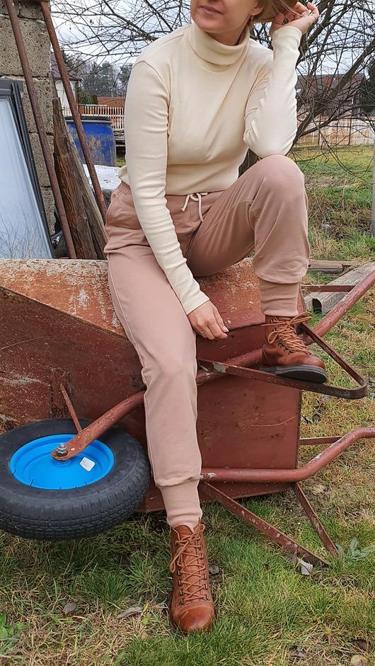 Bawełniane spodnie dresowe , CARMEL