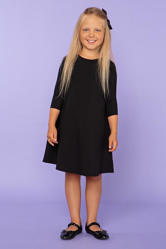 Sukienka trapezowa, model 24, czarny