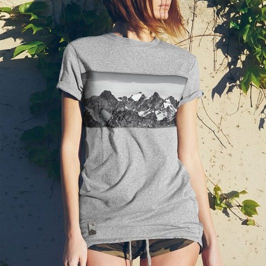 Koszulka damska - Panorama gór (panelowa)