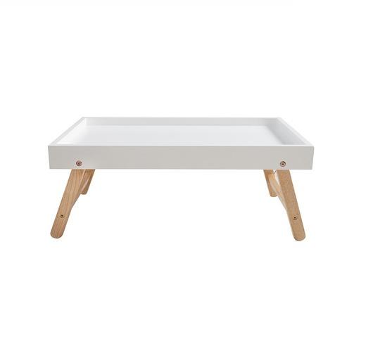 Stolik do łóżka składany 60cm drewniany