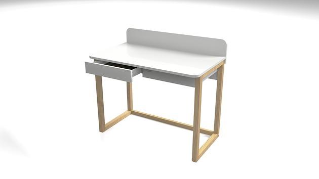 Biurko dla dziecka, drewno, 2 szuflady - B-DES8