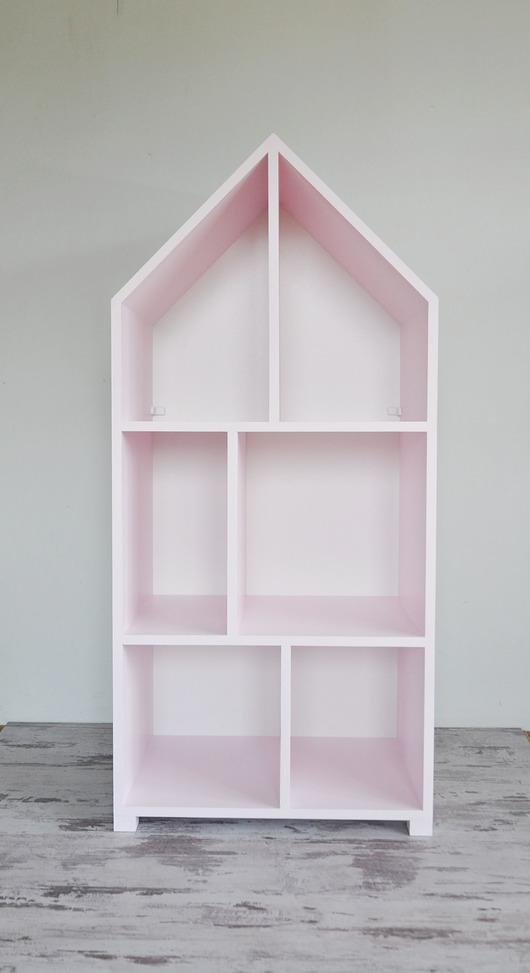 Regał domek Miasto mini różowy pastelowy
