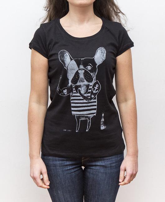 Koszulka damska z Buldogiem Francuskim