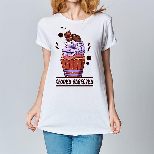 Koszulka damska z nadrukiem Słodka babeczka