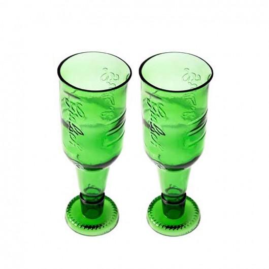 2 ekologiczne kielichy z butelek