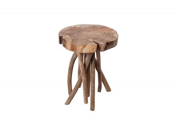 Stolik dekoracyjny Root drewno teakowe 45cm