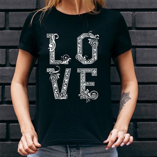 Koszulka damska czarna Love