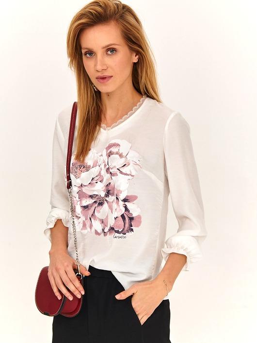 Bluzka damska LaRime z kwiatowym nadrukiem