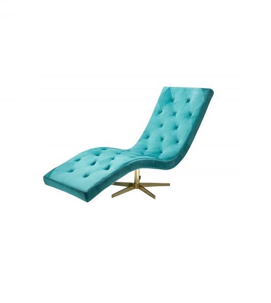 Fotel relaksacyjny Relaxo turkusowy aksamit 165cm