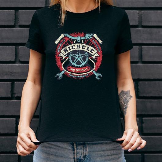 Koszulka damska czarna Bicycle - my passion